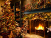 rustic-fireplace-living-room-christmas