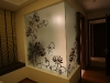 flowers-wall-interior-design-graffiti
