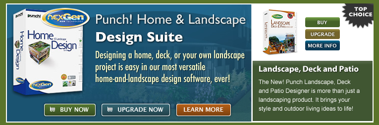 Landscape design courses january 2015 for Punch home landscape design for mac