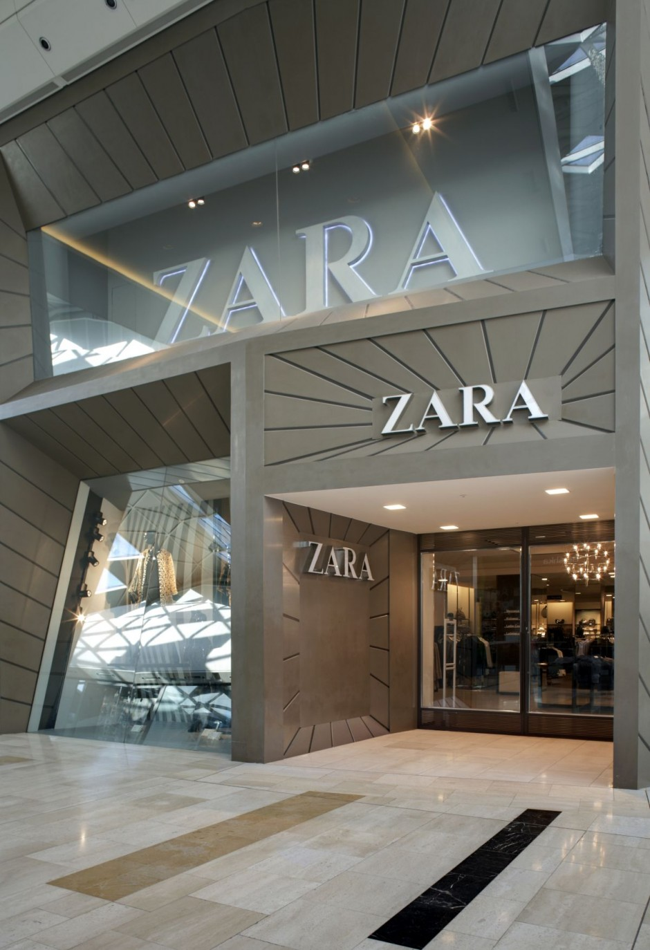 Commercial Architecture – The Facade of the Zara Store at