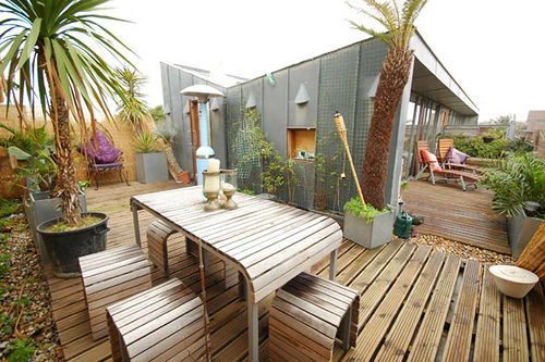 Plant Roof Garden Wood Decking