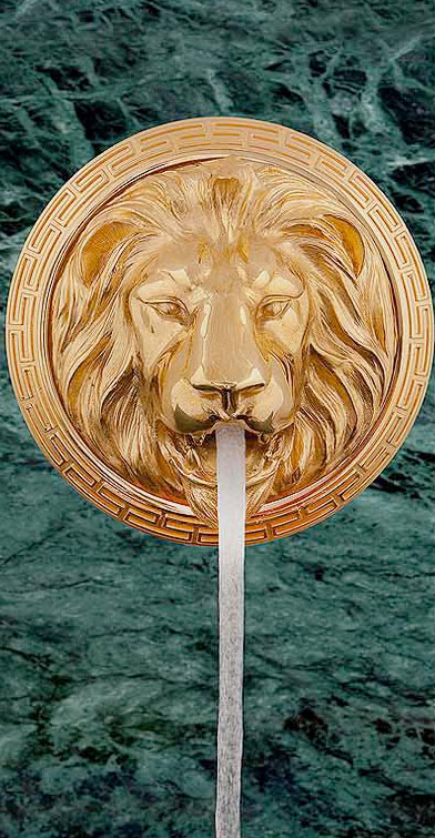 gold-lion-water-fountain