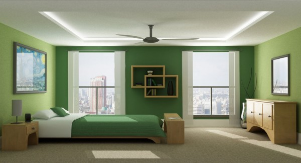 Dark Sea Green Bedroom