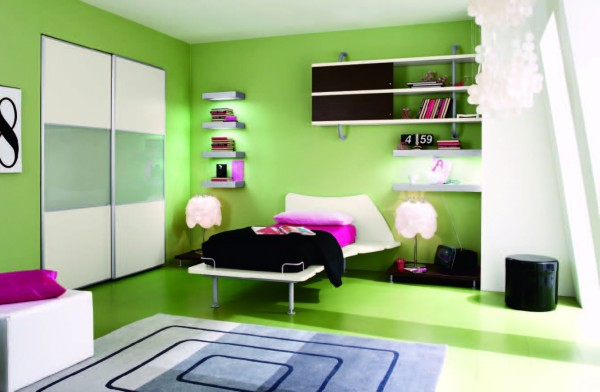 Green Single Bedroom