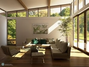 Healthy home design with natural sun lighting