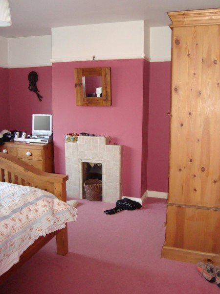 Magenta with Wood Bedroom