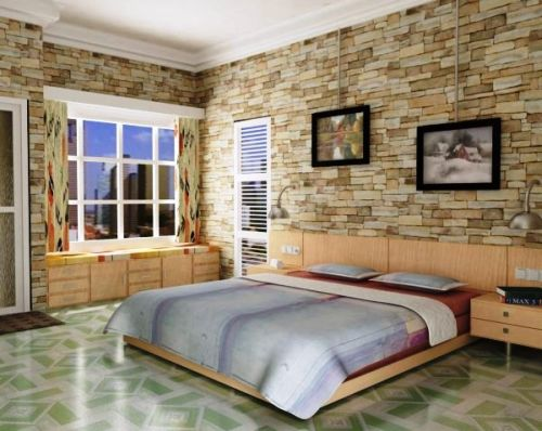 Modern bedroom abstract paintings