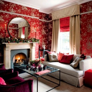 red interior christmas