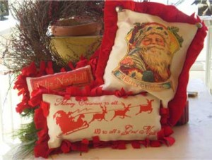 Santa pillows