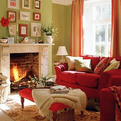 Cozy Room Prepossessing Of Red and Green Living Room Photos