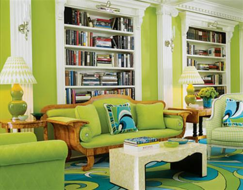 green+living+room+color+scheme