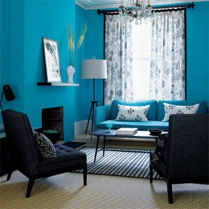 turquoise-in-living-room