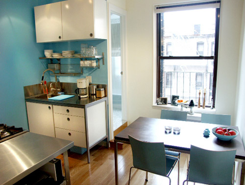 kitchen with some blue