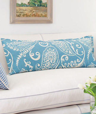 blue decor pillow