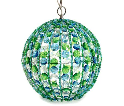 blue and green lamp