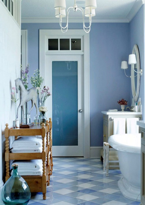 Blue-ish Bathroom