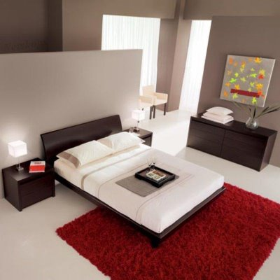 modern asian bedroom