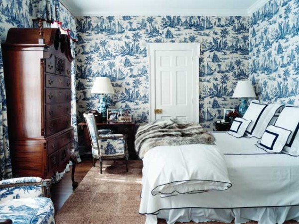 Blue interior designs and decorations home interior - Blue bedroom wallpaper ideas ...