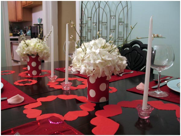 Valentine's Day Dinner Decor