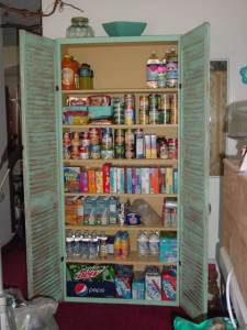 Shutter doors repurposed for a pantry