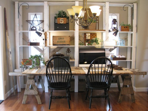 Repurposed dining room table