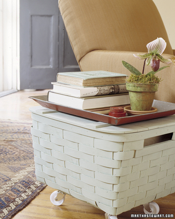 Picnic basket side table
