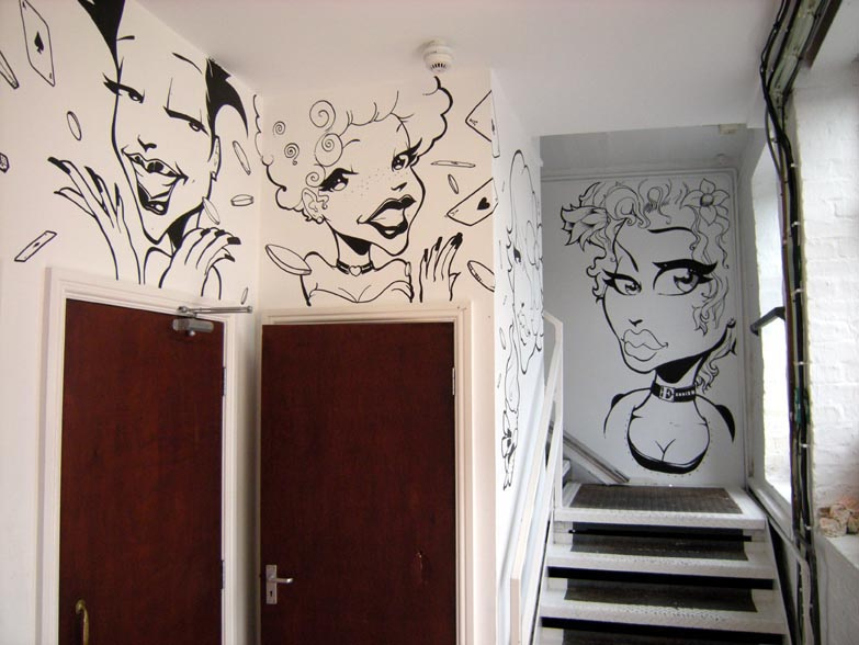 manga style interior design graffiti