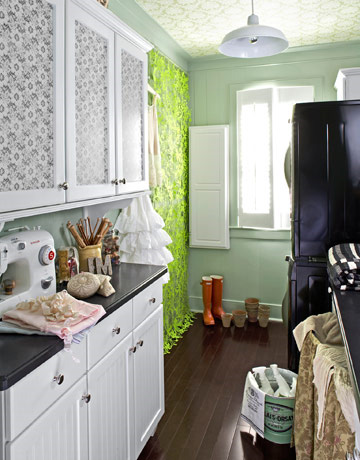 Green Utility Room
