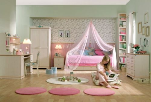 Pink Grils Bedrooms Ideas  3