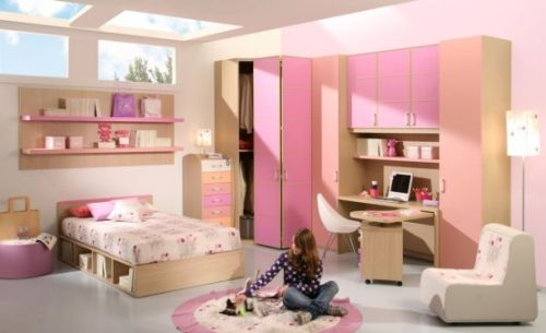 Pink Grils Bedrooms Ideas  10