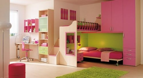 Pink Grils Bedrooms Ideas  1