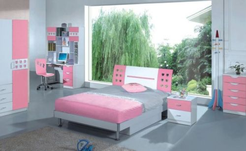 Pink Grils Bedrooms Ideas  8