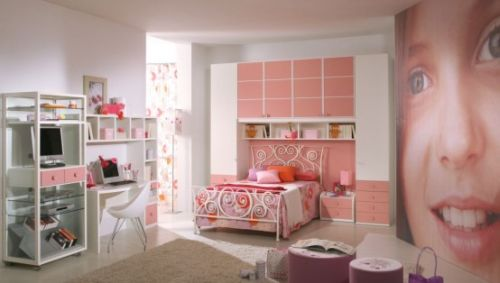 Pink Grils Bedrooms Ideas  11
