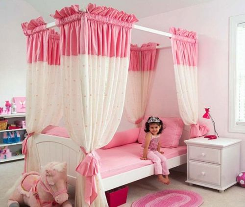 Pink Grils Bedrooms Ideas  2
