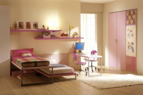 Pink Grils Bedrooms Ideas  9