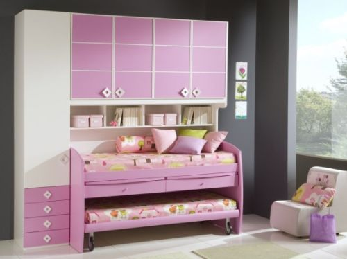 Pink Grils Bedrooms Ideas  12