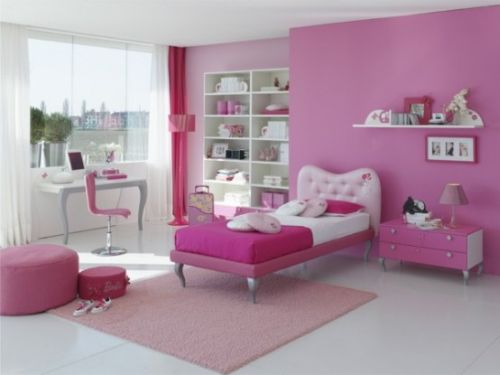 Pink Grils Bedrooms Ideas  4