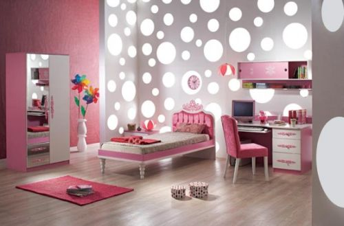 Pink Grils Bedrooms Ideas