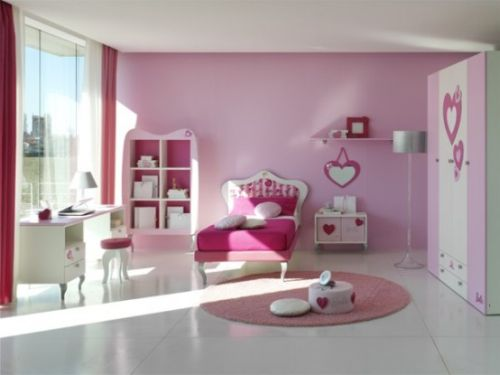 Pink Grils Bedrooms Ideas  6